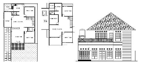 Kerja rumah pdf gambar 2 lantai